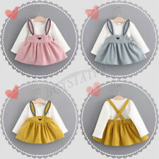 Lovely Rabbit Ear Infant Toddler Baby Girls Long Sleeves Skirt Tutu Dress Party