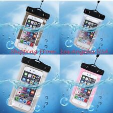 Waterproof Underwater Pouch Dry Carry Bag 4.77'' 5.5'' Case Cover For Cell Phone
