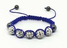 SHAMBALLA BEAD BRACELET  Adjustable Crystal Pave Disco Ball Bling Hip Hop
