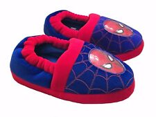 Marvel Spider-Man Boys Slippers Red Blue 9 10 11 12 Spiderman