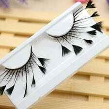 Makeup Sexy Artistic Long Feather False Eyelashes Eye Lashes Thick Party W2S2