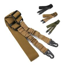 Adjustable 2 Double Point Rifle Sling Bungee Tactical Airsoft AEG Gun Strap