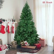 4/5/6/7/8 Ft Artificial PVC Christmas Tree W/Stand Holiday Season Outdoor Indoor