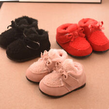 New Cute Toddler Girls Winter Shoes Baby Infant Princess Walking Shoes