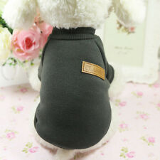 Pet Dog Cat Sweater Hoodie Coat 6 Size Winter Clothes Fashion Jacket Army Green