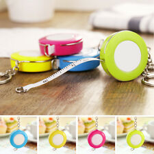 Mini Portable Keychain Key Ring Easy Retractable Tape Measure Pull Ruler 1.5m