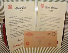 Personalised Baby's first letter from Santa, Father Christmas with envelope