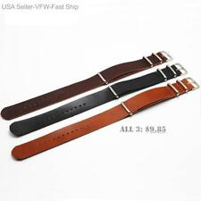 Military Army Style leather Watch Straps 22mm Watch Bands, 3 for 1, Tool/Pins