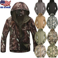 USA Mens Outdoor Military Tactical Jacket Hunting Waterproof Hoodie Coat Outwear