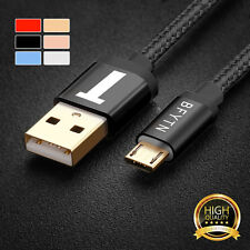 Nylon Braided Micro USB Sync Data Charging Cable Charger Cord for LG Samsung S7