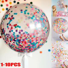 1/10pcs 36 Inch Clear Latex Confetti Balloons Wedding Birthday Party Decoration