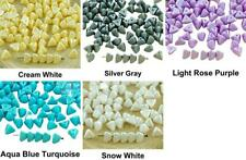 50pcs Pastel Pearl Czech Glass Large Half Pinch Triangle Spacer Beads 4mm x 7mm
