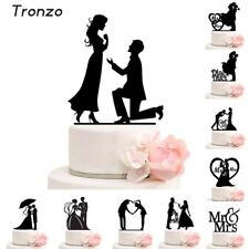Cake Topper Wedding  Mr Mrs Acrylic Black Toppers Romantic Bride Groom For Weddi