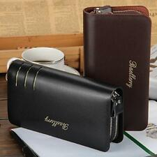 Bifold Wallet Long Men's PU Leather Credit Card ID Holder Casual Purse Clutch