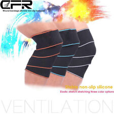 CFR Gym Weight lifting Knee Wraps Bandage Straps Guard Powerlifting Pads Sleeves