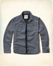 NWT Hollister by Abercrombie&Fitch Textured Pique Shirt Jacket Blue S