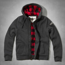NWT Abercrombie&Fitch Mens Giant Mountain Sweatshirt Quilted Jacket Plaid Lined