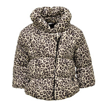 Baby Girls Leopard Print Fleece Lined Coat 3/6, 6/9, 9/12,12/18,18/24 Months NEW