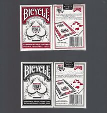 Bicycle WSOP Playing Cards 1-Red 1-Black World Series of Poker