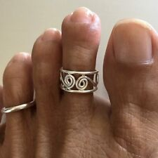 Sterling Silver Wire Swirl Toe Ring, Silver Rings, Rings