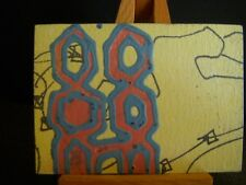 """ACEO Original Art Card """"Hard Rain"""" Signed/Dated by Artist"""