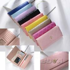 women clutch purse long wallet phone cash card holder PU leather lady handbag