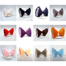 Hair Clip Fluffy Faux Fur Anime Cat Ears Hairpin Cosplay Halloween Party Costume