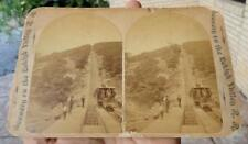 antique LEHIGH VALLEY RAILROAD R.R. TRAIN Large Cabinet Card ~late 1800's~