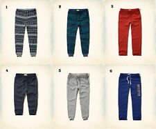 NWT Hollister by Abercrombie Mens Sweatpants Classic/Joggers Blue Grey Red