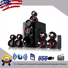 Bluetooth 5:1 Channel Surround Sound Home Theater Speaker System USB/SD/FM LOT