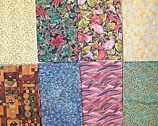 CHOOSE ONE : ASSORTED COTTON FABRIC PRINTS WITH GOLD METALLIC ACCENTS FLORAL FEA