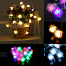 20 LEDs Rose Flower LED String Light Fairy Wedding Christmas Xmas Party  Decor
