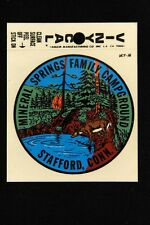 1960's Mineral Springs Campgrounds CONNECTICUT Travel Window VINYLCAL Decal