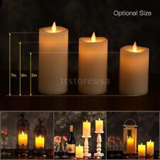 Electric Flameless LED Candle Light Dancing Flickering Lamp Remote Control J5W0