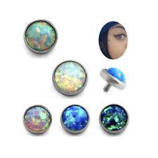 Titanium Piercings Opal Dermal Anchor Top Jewelry Dermal Flat Head Surface 3mm