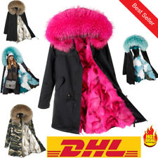 Women Luxurious Large Fur Collar Coat Warm Fur Liner Parkas Long Winter Jacket