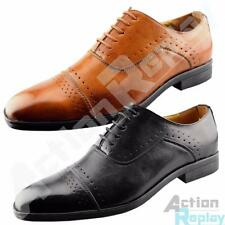 New Mens Designer Lace Up Formal Brogue Shoes