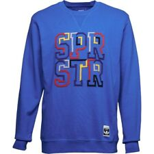 adidas Originals Mens Superstar City Series Crew Neck Sweat Blue