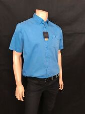 Oakman Short Sleeved Casual Shirt,Size Medium, Caribbean Blue, Sulpher Dye BNWT.