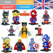 Super hero Mini Figure Batman Captain America DC Marvel Building Blocks Fit Lego