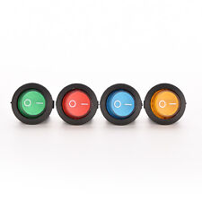 1X/4X ON/OFF LED 12V 16A DOT ROUND ROCKER SPST TOGGLE SWITCH CAR BOAT LIGHT JHCA