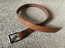Mens Waistband Brown Belt Genuine Leather Pin Buckle Leather Handmade Fancy Belt