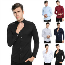 Vogue Mens Luxury Casual Stylish Slim Fit Long Sleeve Casual Dress Shirts Tops