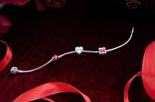 PANDORA Bracelet with Bamoer S925 Sterling Silver Heart Love Gift Family Charms