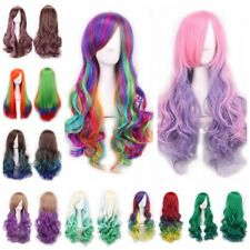 Ladies Full Wig Long Hair Custume Party Multicolor Cosplay Style Fashion Wigs