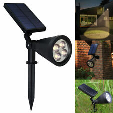 4LED Solar Power Garden Lamp Spot Light Outdoor Lawn Landscape Path Spotlight