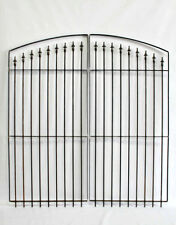Center Divide Gate 6'w x 6't Wrought Iron Entry Gate