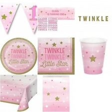 One Little Star Girl (Pink 1st Birthday/Baby Shower) Party Tableware/Decorations