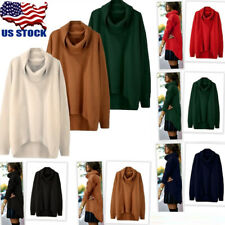 Womens Casual Long Sleeve Knitted Sweater Loose Solid Cardigan Tops Outwear Coat