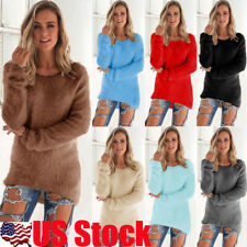 Womens Long Sleeve Loose Knitted Sweater Jumper Casual Cardigan Outwear Coat Top